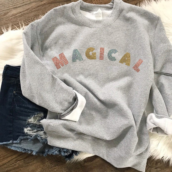 Magical Mixed Glitter Sweatshirt (Pick your own colours) - We're All Ears Boutique