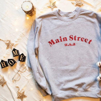 Main Street USA Disney Sweatshirt (Pick your own colours) - We're All Ears Boutique