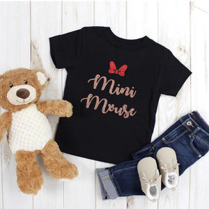Mini Mouse Glitter Tshirt - We're All Ears Boutique