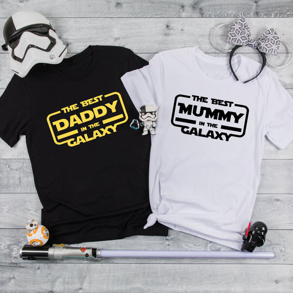 The Best Mummy/ Daddy in the Galaxy Tshirt / Star Wars - We're All Ears Boutique