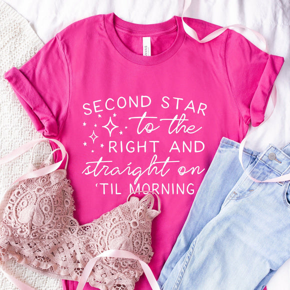Second Star To The Right Disney Tshirt - We're All Ears Boutique