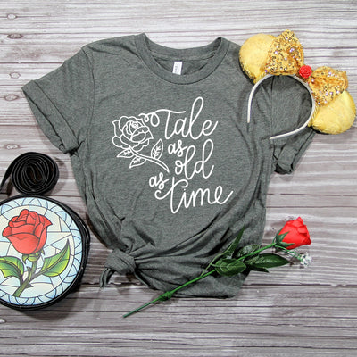 """Tale as Old as Time"" Tshirt - We're All Ears Boutique"