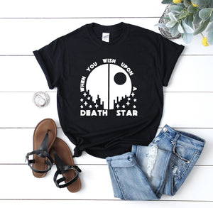 """When You Wish Upon A Death Star"" Star Wars Tshirt - We're All Ears Boutique"
