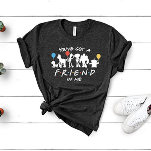 RTS - You've Got A Friend in Me Light Grey Tshirt with White Text - We're All Ears Boutique