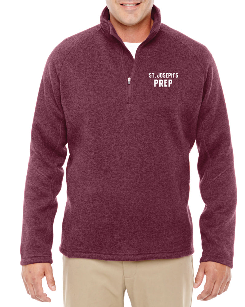 Burgundy Fleece Zip