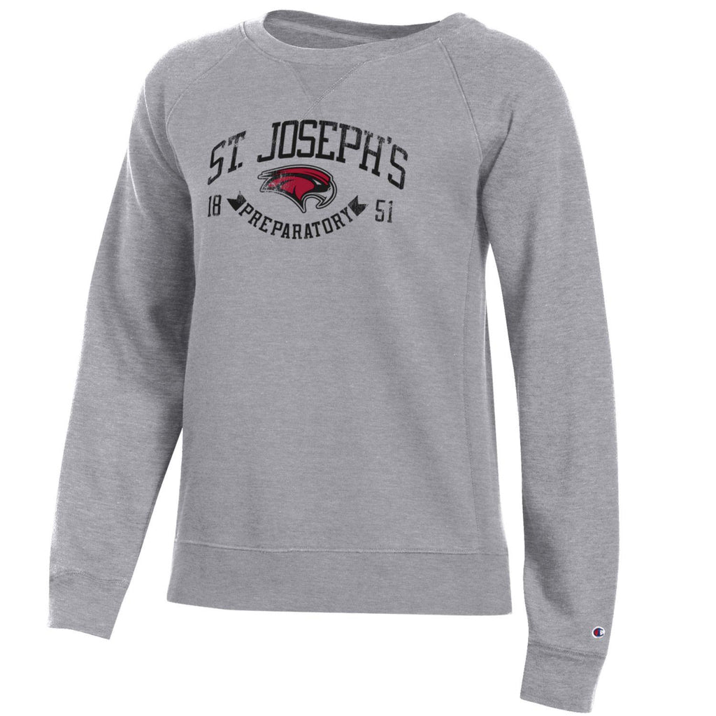 Ladies Grey Crew Sweatshirt