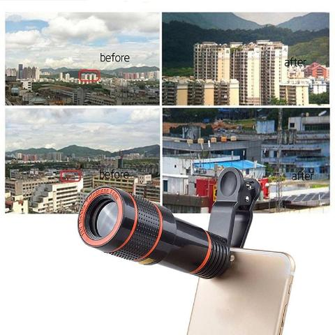 Smartphone 8X Zoom Optical Telescope Camera Telephoto HD Focus Mobile Phone Lens