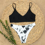 Low waist bikinis 2020 mujer Bandeau swimsuit women Tie-dye bikini Sexy swimwear female bathers bathing suit beach wear