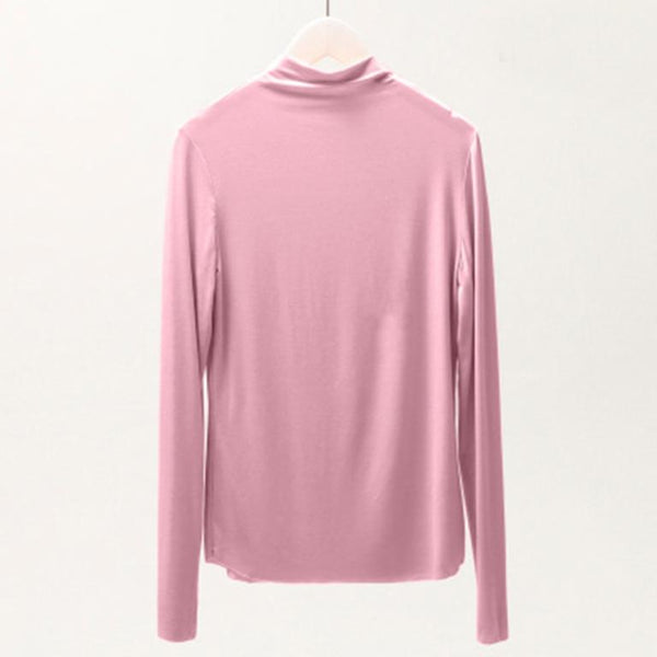 Simplee Casual solid color women sweater Long sleeve ruffled high neck knitted pullover Office ladies autumn pullover 2020