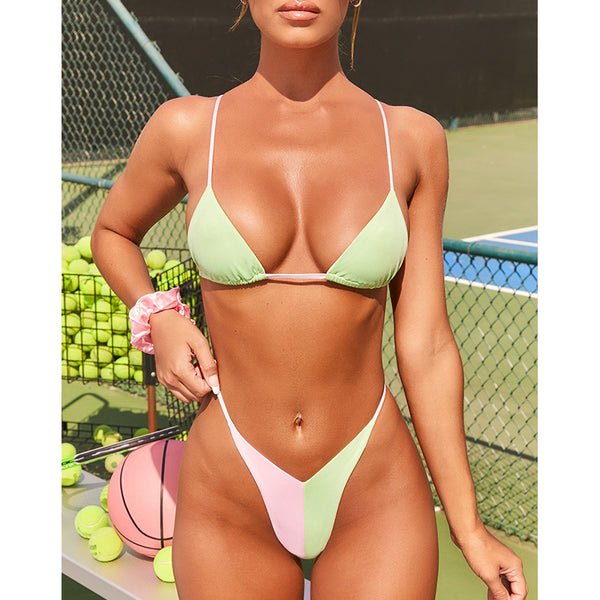 Sexy thong bikini 2020 Micro swimsuit women Patchwork swimwear String bathing suit Triangle Brazilian two piece suit new