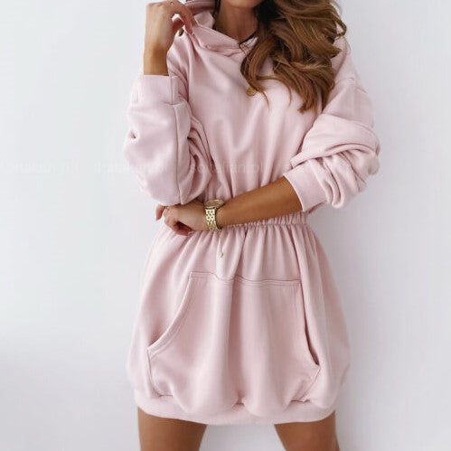 Casual  women pink dress female camis Streetwear fashion ladies knitted dress