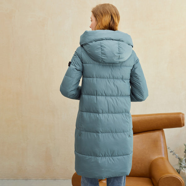 Casual office lady women parkas winter coat Fashion brand new long cotton warm coat Hooded women's jacket coat female