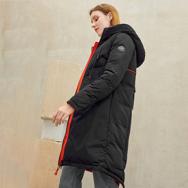 Fashion brand pocket women parkas winter coat 2020 New cotton long warm coat female Hooded zipper jacket coat xl clothes