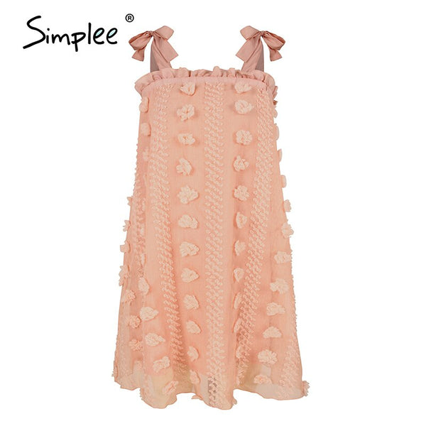 Simplee Sexy spaghetti strap flower print women dress Elegant A line casual female short sundress Summer holiday lady midi dress