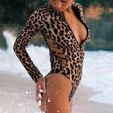 Snake print swimsuit 2020 one piece swimwear women High cut bathing suit female Vintage zipper bikini Bathers bodysuit Monokini