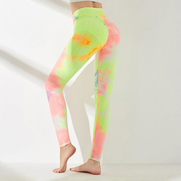 High waist Yoga leggings Print push up sportswear High elastic fitness sport Gym leggings Athletic trousers Exercise Yoga pants