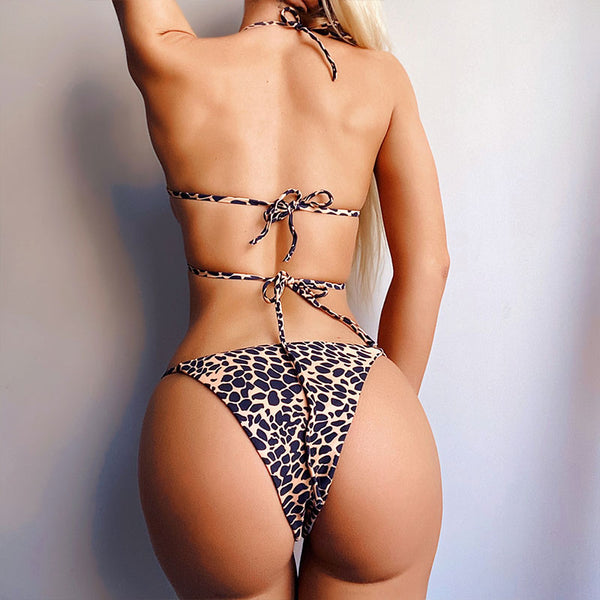 Paisley print bikini set 2020 Sexy halter swimsuit female Push up swimwear women Micro bikini bathing suit High cut biquini