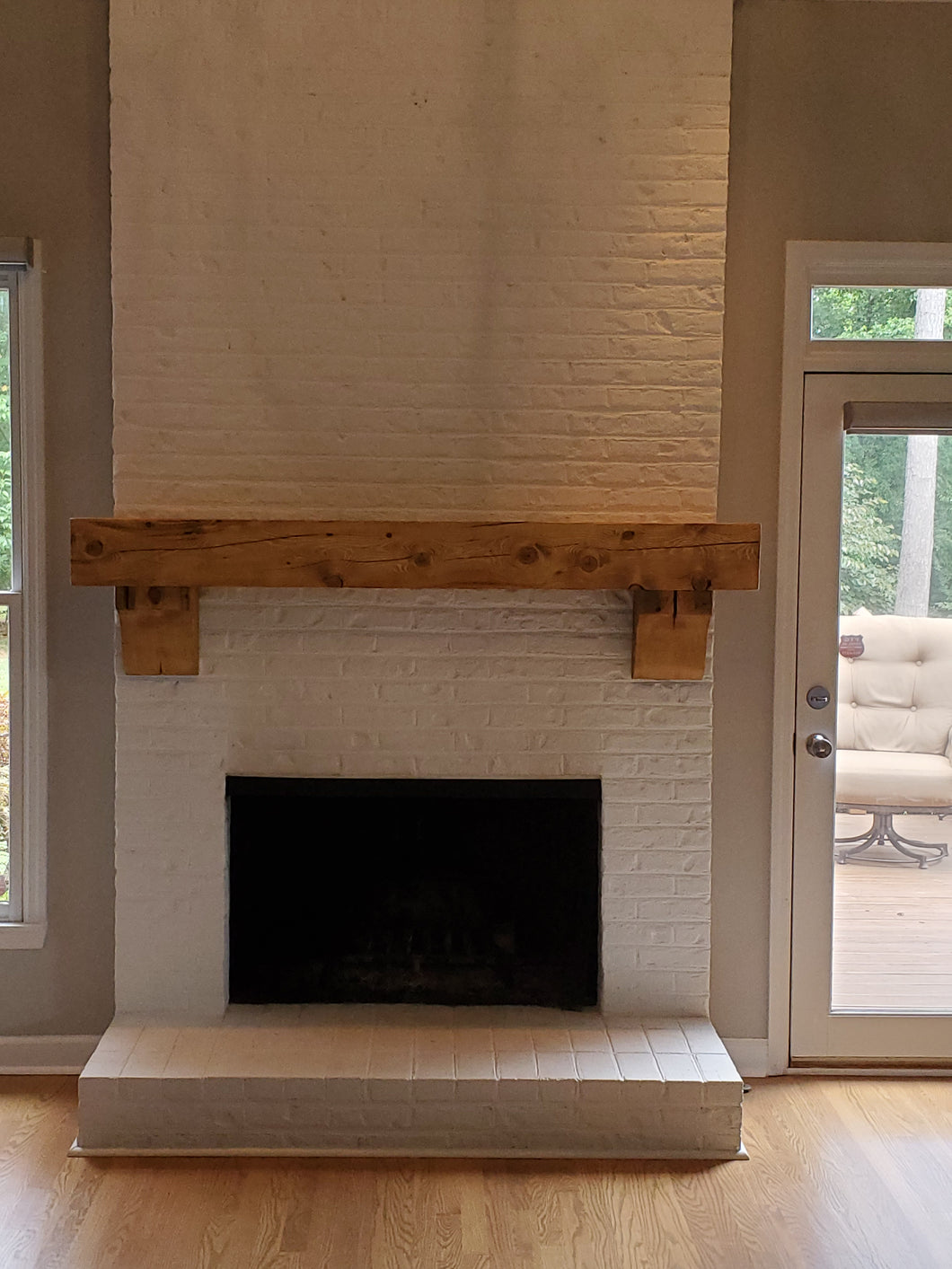 Jayme's fireplace mantel