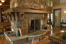 Load image into Gallery viewer, Barbara and Jimmy's wrap around fireplace mantel.