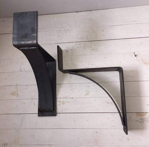 Alan's fireplace mantel with iron corbels