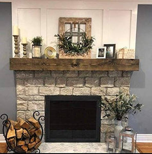 Greg's fireplace mantel