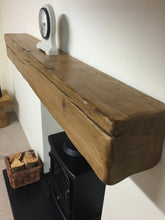 "Load image into Gallery viewer, Mike's 4"" x 6"" Reclaimed wood beam mantel"