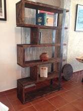 Load image into Gallery viewer, Rustic industrial bookshelf