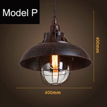 Load image into Gallery viewer, Beautiful Farmhouse Yoke suspended lamp with pulley