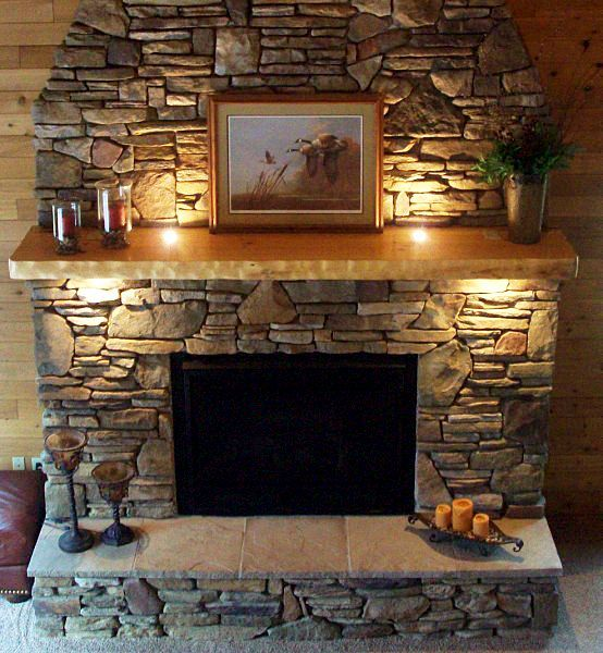 Oana's fireplace mantel