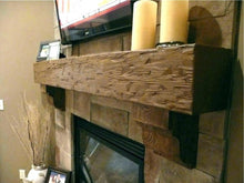 Load image into Gallery viewer, Lindsey's fireplace mantel with corbels.