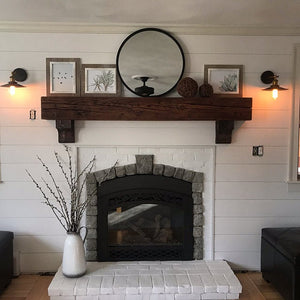 Renee's fireplace mantel