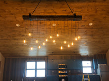 Load image into Gallery viewer, Reclaimed Barn Wood Beam Chandelier
