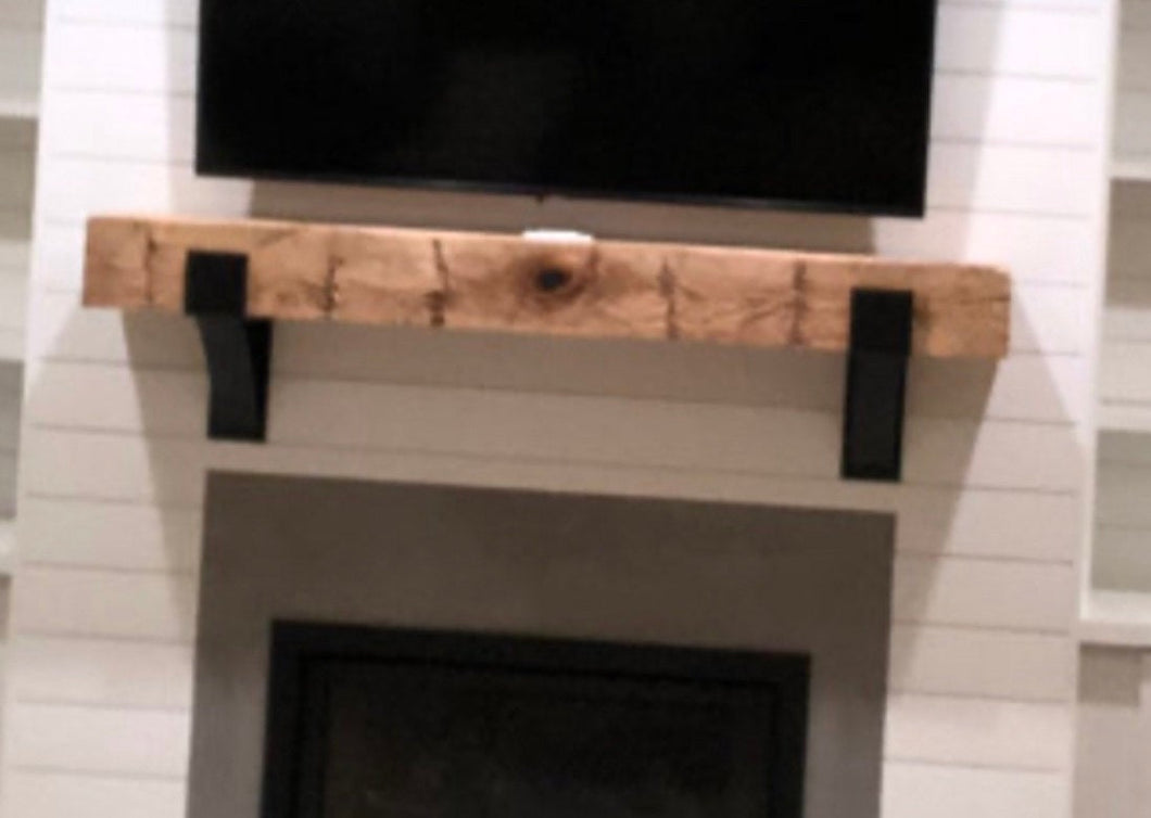 Andrea's fireplace mantel