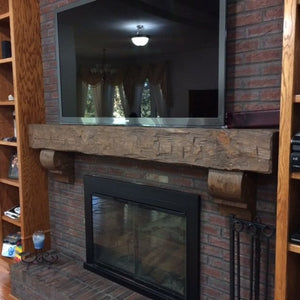 Austin's fireplace mantel