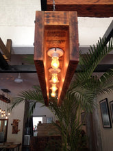 Load image into Gallery viewer, Rustic Reclaimed Suspended Wood Chandelier