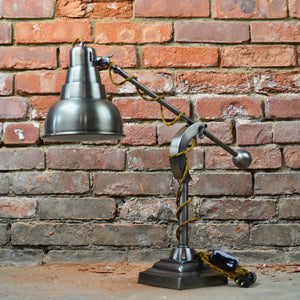Rustic industrial table lamp