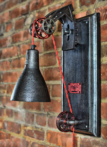 Rustic industrial wall lamp