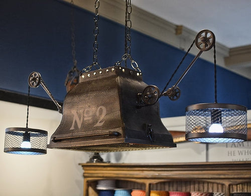 Industrial Steampunk Chandelier (medium size)