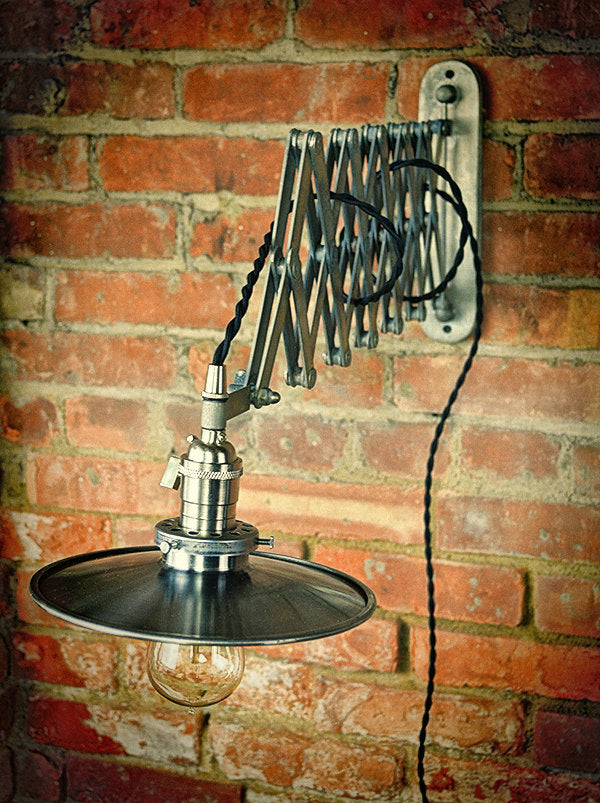 Industrial Style Scissor Wall Sconce