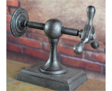 Load image into Gallery viewer, Industrial style vise bookend