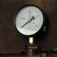 Load image into Gallery viewer, Industrial Pipe wall lamp with gauge (antique copper)