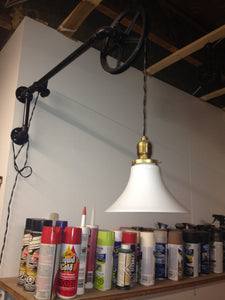 Rustic Industrial Pipe Wall Lamp