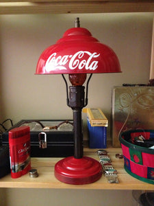 Custom made Coca-Cola (Coke) lamps and shades