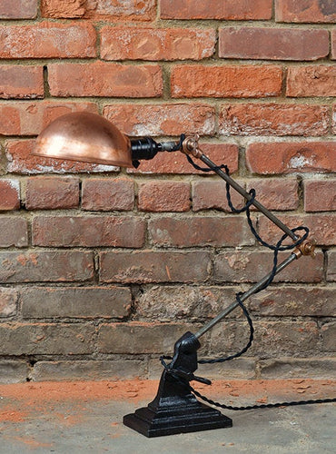 Beautiful rustic industrial table lamp