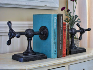 Industrial style vise bookend