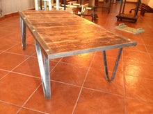 Load image into Gallery viewer, Rustic industrial coffee table