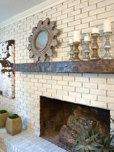 "Load image into Gallery viewer, 6"" x 6"" Mantel made from Reclaimed wood beam mantel shelf ""REAL BEAM"""