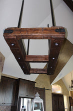 Load image into Gallery viewer, Rustic Industrial Beam Chandelier