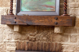 "Mike's 4"" x 6"" Reclaimed wood beam mantel"