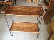 Load image into Gallery viewer, Rustic industrial bar cart
